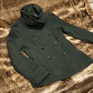 NWT Forest Green Peacoat / Dress Coat